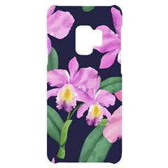 Vector Hand Drawn Orchid Flower Pattern Samsung S9 Black Uv Print Case by Sobalvarro