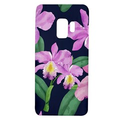 Vector Hand Drawn Orchid Flower Pattern Samsung Galaxy S9 Tpu Uv Case by Sobalvarro