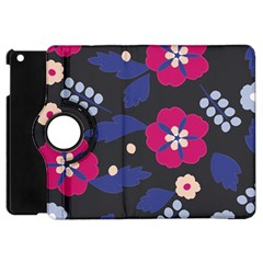 Vector Seamless Flower And Leaves Pattern Apple Ipad Mini Flip 360 Case by Sobalvarro