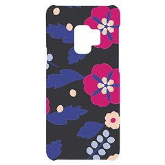 Vector Seamless Flower And Leaves Pattern Samsung S9 Black Uv Print Case by Sobalvarro