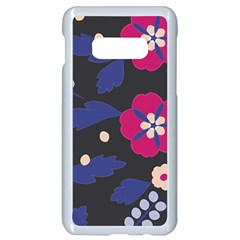 Vector Seamless Flower And Leaves Pattern Samsung Galaxy S10e Seamless Case (white) by Sobalvarro