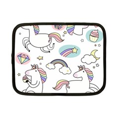 Cute Unicorns With Magical Elements Vector Netbook Case (small) by Sobalvarro