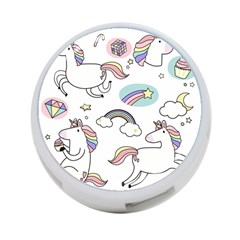Cute Unicorns With Magical Elements Vector 4-port Usb Hub (two Sides) by Sobalvarro