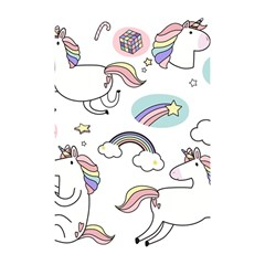 Cute Unicorns With Magical Elements Vector Shower Curtain 48  X 72  (small)