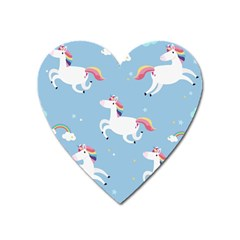 Unicorn Seamless Pattern Background Vector (2) Heart Magnet by Sobalvarro