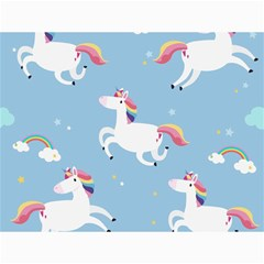 Unicorn Seamless Pattern Background Vector (2) Canvas 36  X 48  by Sobalvarro
