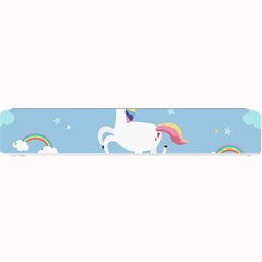 Unicorn Seamless Pattern Background Vector (2) Small Bar Mats by Sobalvarro