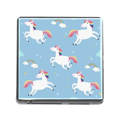Unicorn Seamless Pattern Background Vector (2) Memory Card Reader (square 5 Slot) by Sobalvarro
