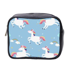 Unicorn Seamless Pattern Background Vector (2) Mini Toiletries Bag (two Sides) by Sobalvarro