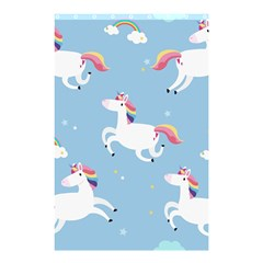 Unicorn Seamless Pattern Background Vector (2) Shower Curtain 48  X 72  (small)  by Sobalvarro