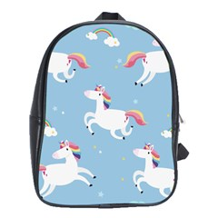 Unicorn Seamless Pattern Background Vector (2) School Bag (xl) by Sobalvarro