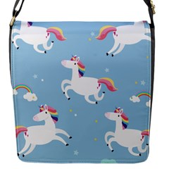 Unicorn Seamless Pattern Background Vector (2) Flap Closure Messenger Bag (s) by Sobalvarro