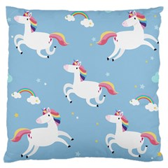 Unicorn Seamless Pattern Background Vector (2) Large Flano Cushion Case (one Side) by Sobalvarro