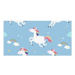 Unicorn Seamless Pattern Background Vector (2) Satin Shawl by Sobalvarro