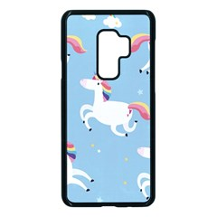 Unicorn Seamless Pattern Background Vector (2) Samsung Galaxy S9 Plus Seamless Case(black) by Sobalvarro