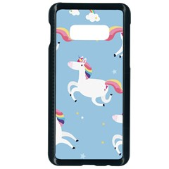 Unicorn Seamless Pattern Background Vector (2) Samsung Galaxy S10e Seamless Case (black) by Sobalvarro