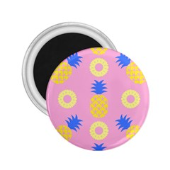 Pop Art Pineapple Seamless Pattern Vector 2 25  Magnets by Sobalvarro