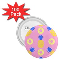 Pop Art Pineapple Seamless Pattern Vector 1 75  Buttons (100 Pack)