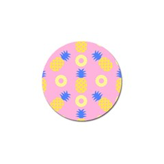Pop Art Pineapple Seamless Pattern Vector Golf Ball Marker (10 Pack) by Sobalvarro