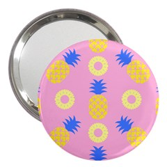 Pop Art Pineapple Seamless Pattern Vector 3  Handbag Mirrors by Sobalvarro