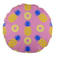 Pop Art Pineapple Seamless Pattern Vector Large 18  Premium Flano Round Cushions by Sobalvarro