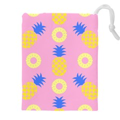 Pop Art Pineapple Seamless Pattern Vector Drawstring Pouch (4xl)