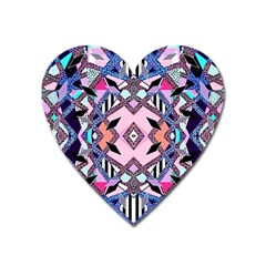 Marble Texture Print Fashion Style Patternbank Vasare Nar Abstract Trend Style Geometric Heart Magnet by Sobalvarro