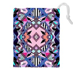 Marble Texture Print Fashion Style Patternbank Vasare Nar Abstract Trend Style Geometric Drawstring Pouch (5xl)