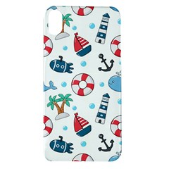 Seamless Pattern Nautical Icons Cartoon Style Apple Iphone Xr Tpu Uv Case