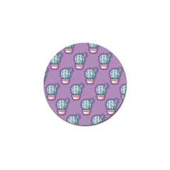 Seamless Pattern Patches Cactus Pots Plants Golf Ball Marker (10 Pack) by Vaneshart