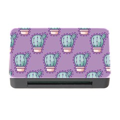 Seamless Pattern Patches Cactus Pots Plants Memory Card Reader With Cf by Vaneshart