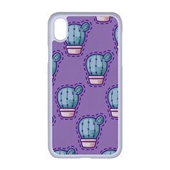 Seamless Pattern Patches Cactus Pots Plants Iphone Xr Seamless Case (white)