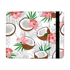 Seamless Pattern Coconut Piece Palm Leaves With Pink Hibiscus Samsung Galaxy Tab Pro 8 4  Flip Case