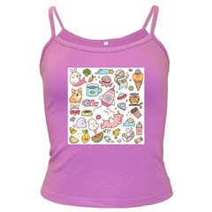 Set Kawaii Doodles Dark Spaghetti Tank