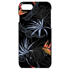 Exotic Flower Leaves Seamless Pattern Iphone 7/8 Black Uv Print Case by Vaneshart
