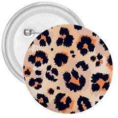 Leopard Pattern Funny Drawing Seamless Pattern 3  Buttons