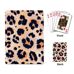 Leopard Pattern Funny Drawing Seamless Pattern Playing Cards Single Design (rectangle)