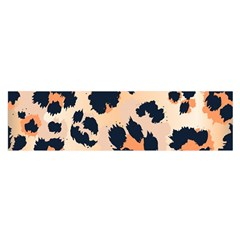 Leopard Pattern Funny Drawing Seamless Pattern Satin Scarf (oblong)