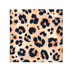 Leopard Pattern Funny Drawing Seamless Pattern Small Satin Scarf (square)