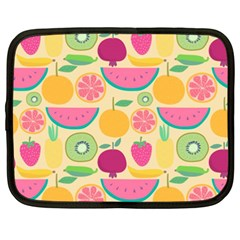 Seamless Pattern With Fruit Vector Illustrations Gift Wrap Design Netbook Case (xxl)