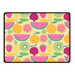 Seamless Pattern With Fruit Vector Illustrations Gift Wrap Design Double Sided Fleece Blanket (small)
