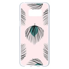 Green Tropical Leaves Seamless Pattern Samsung Galaxy S8 Plus White Seamless Case
