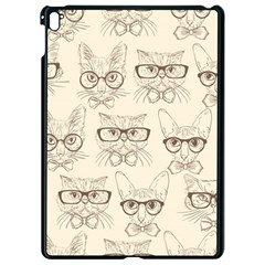 Seamless Pattern Hand Drawn Cats With Hipster Accessories Apple Ipad Pro 9 7   Black Seamless Case by Vaneshart