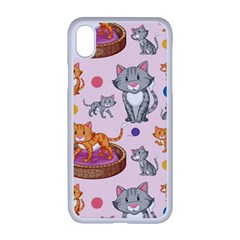 Cat Seamless Pattern Iphone Xr Seamless Case (white)