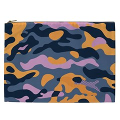 Camouflage Background Textile Uniform Seamless Pattern Cosmetic Bag (xxl)