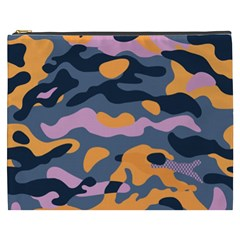 Camouflage Background Textile Uniform Seamless Pattern Cosmetic Bag (xxxl)
