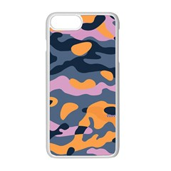 Camouflage Background Textile Uniform Seamless Pattern Iphone 8 Plus Seamless Case (white)