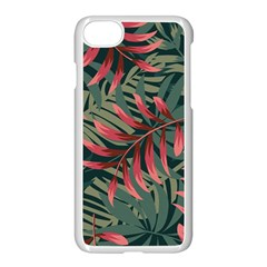 Trending Abstract Seamless Pattern With Colorful Tropical Leaves Plants Green Iphone 7 Seamless Case (white)