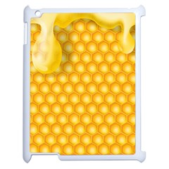 Abstract Honeycomb Background With Realistic Transparent Honey Drop Apple Ipad 2 Case (white) by Vaneshart