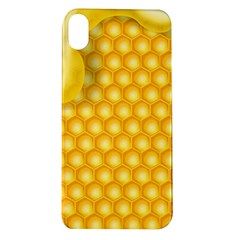 Abstract Honeycomb Background With Realistic Transparent Honey Drop Apple Iphone Xr Tpu Uv Case